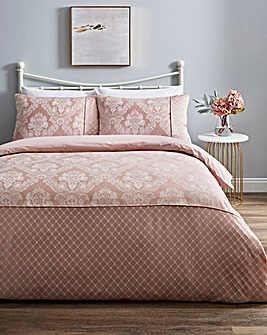 Windsor Jacquard Blush Duvet Set