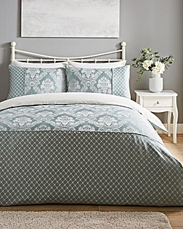 Windsor Jacquard Duck Egg Duvet Set