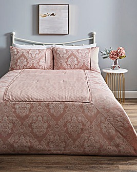 Windsor Jacquard Blush Bedspread