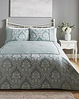 Windsor Jacquard Duck Egg Bedspread