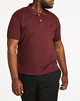 Wine Short Sleeve Embroid Polo Long
