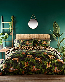 Jungle Cats Reversible Duvet Cover Set