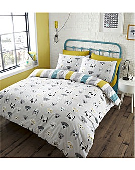 Catherine Lansfield Cool Dogs Duvet Cover Set