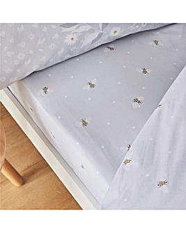 Catherine Lansfield Bee Happy Fitted Sheet