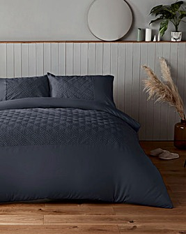 Silentnight Chevron Embossed Petrol Duvet Set