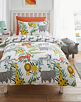 Safari Reversible Duvet Cover Set