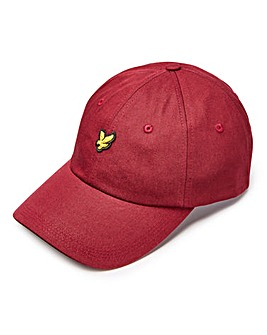 Lyle & Scott Claret Canvas Baseball Cap