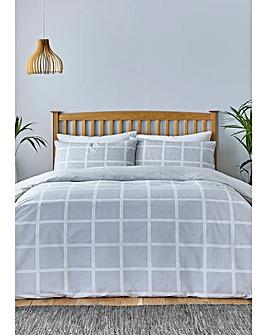 Silentnight Sustainable Grey Check Duvet Set