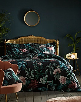Heligan Velvet Floral Duvet Cover Set