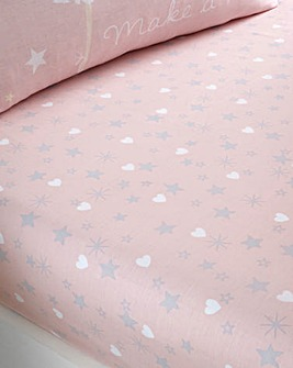 Catherine Lansfield Make A Wish Stars Easy Care Fitted Sheet