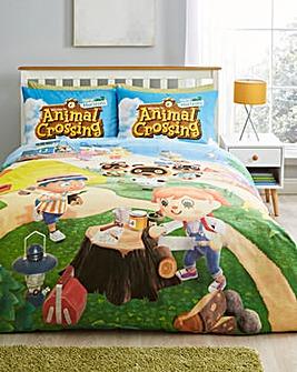 Animal Crossing Beach Double Duvet Set