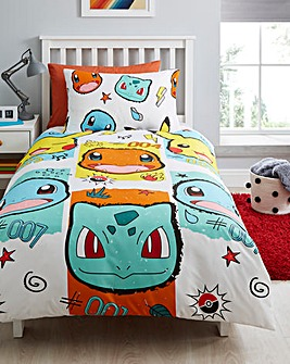 Pokemon Rocks Single Duvet Cover Set