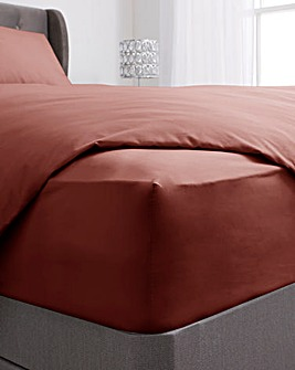 200 TC Plain Dyed Percale 38cm Extra Deep Fitted Sheet