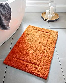 Supersoft Snuggle Bath Mat Tangerine