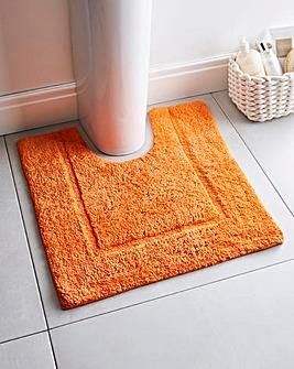 Supersoft Snuggle Pedestal Mat Tangerine