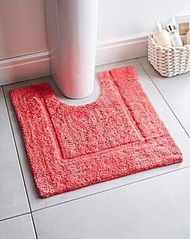 Supersoft Snuggle Pedestal Mat Coral