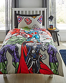 Marvel Stickers Single Duvet Set