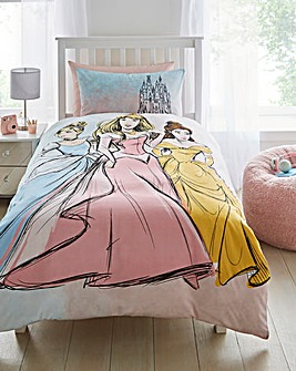 Disney Princess Pastels Single Duvet Set