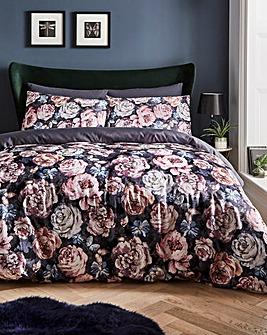 Digital Print Floral Duvet Cover Set