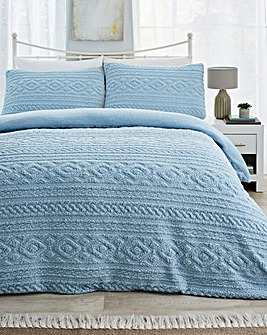 Pipin Ice Blue Cuddle Fleece Duvet Cover Set