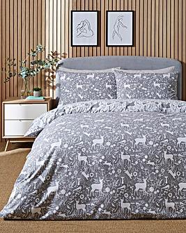 Forest Brushed Cotton Duvet Cover Set