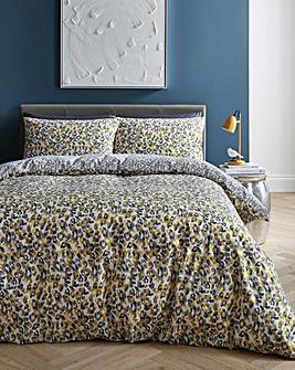 Roar Ochre Leopard Print Duvet Set