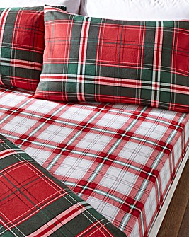 Clark Check Brushed Cotton Fitted Sheet