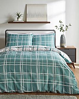 Wilson Eucalyptus Check Duvet Cover Set