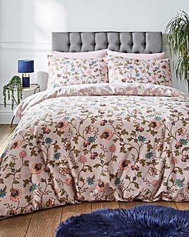 Coleen Blush Floral Duvet Cover Set