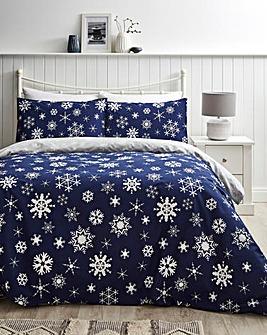 Winter Flurry Reversible Duvet Cover Set