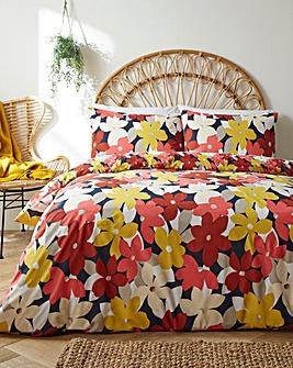 Oversized Floral Duvet Cover Set
