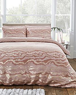 Marble Jacquard Duvet Cover Set