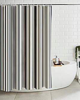 Linear Stripe Shower Curtain