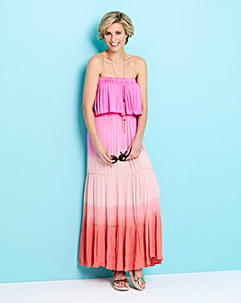 Dip Dye Bandeau Maxi Dress