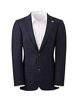 Navy Brierley Regular Fit Pique Blazer