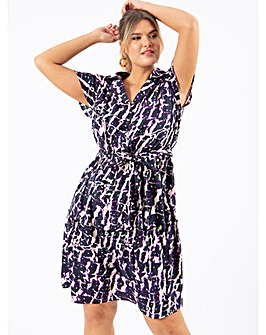 Koko Abstract Print Shirt Dress