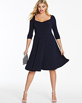 Sweetheart Midi Skater Dress