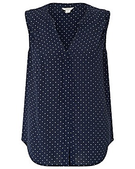 Monsoon Polly Polka Dot Blouse