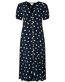 Monsoon Percy Spot Print Button Dress