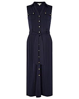Monsoon Bianca Jersey Button Down Dress
