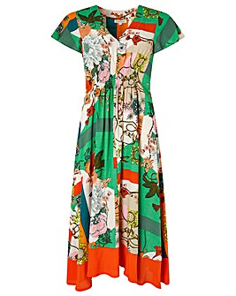 Monsoon Paloma Print Midi Dress