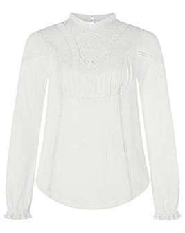 Monsoon Vicky Victoriana Woven Front Top