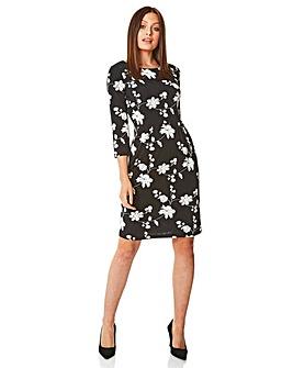 Roman Floral Puff Print Dress