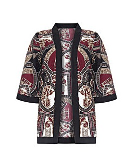 Mela London Curve Abstract Print Kimono
