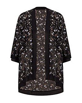 Mela London Curve Floral Print Kimono