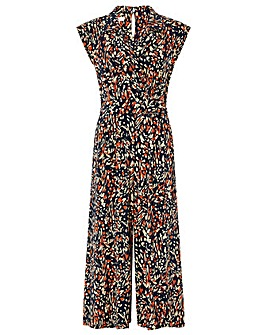 Monsoon Malerie Jersey Print Jumpsuit