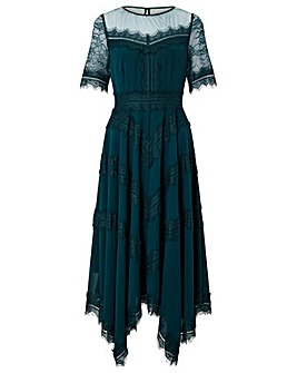 Monsoon Melissa Lace Chevron Hanky Dress
