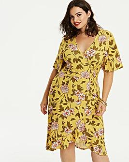 Button Front Wrap Dress