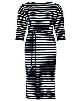 Monsoon Sandy Stripe Jacquard Dress