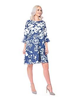 Grace chiffon dress with front split